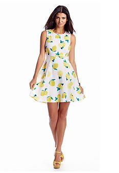 c2c6a633152 CYNTHIA Cynthia Rowley® Lemon Drop Fit-and-Flare Dress