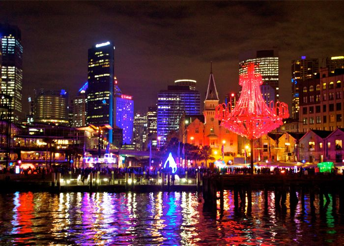 Vivid Sydney overlooking Circular Quay