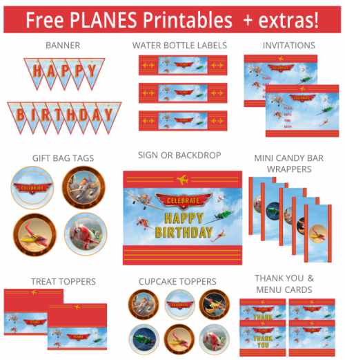 24 disney planes: fire rescue crafts, free printables, birthday, Birthday invitations