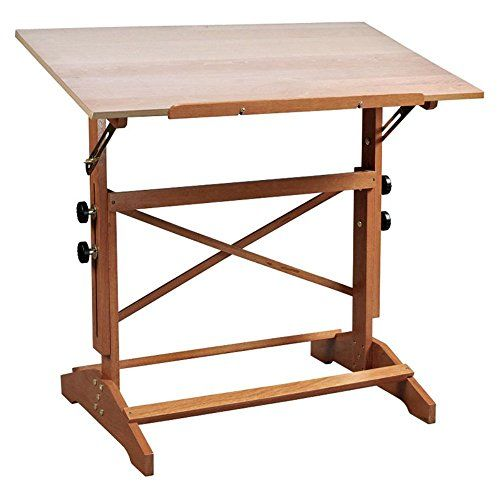 Alvin Alvin Pavillion Drafting Table   Unfinished Wood   42 X 31 Inches,  Unfinished Wood