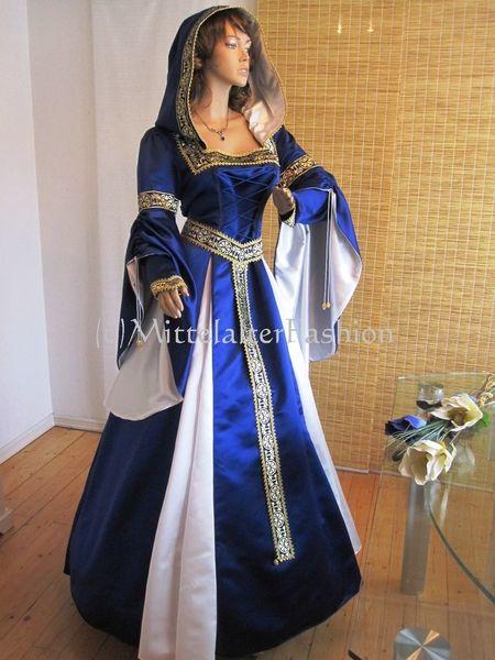 Mittelalter*Gewand*Braut*Robe*Hochzeitskleid*Blau | Medieval dress ...