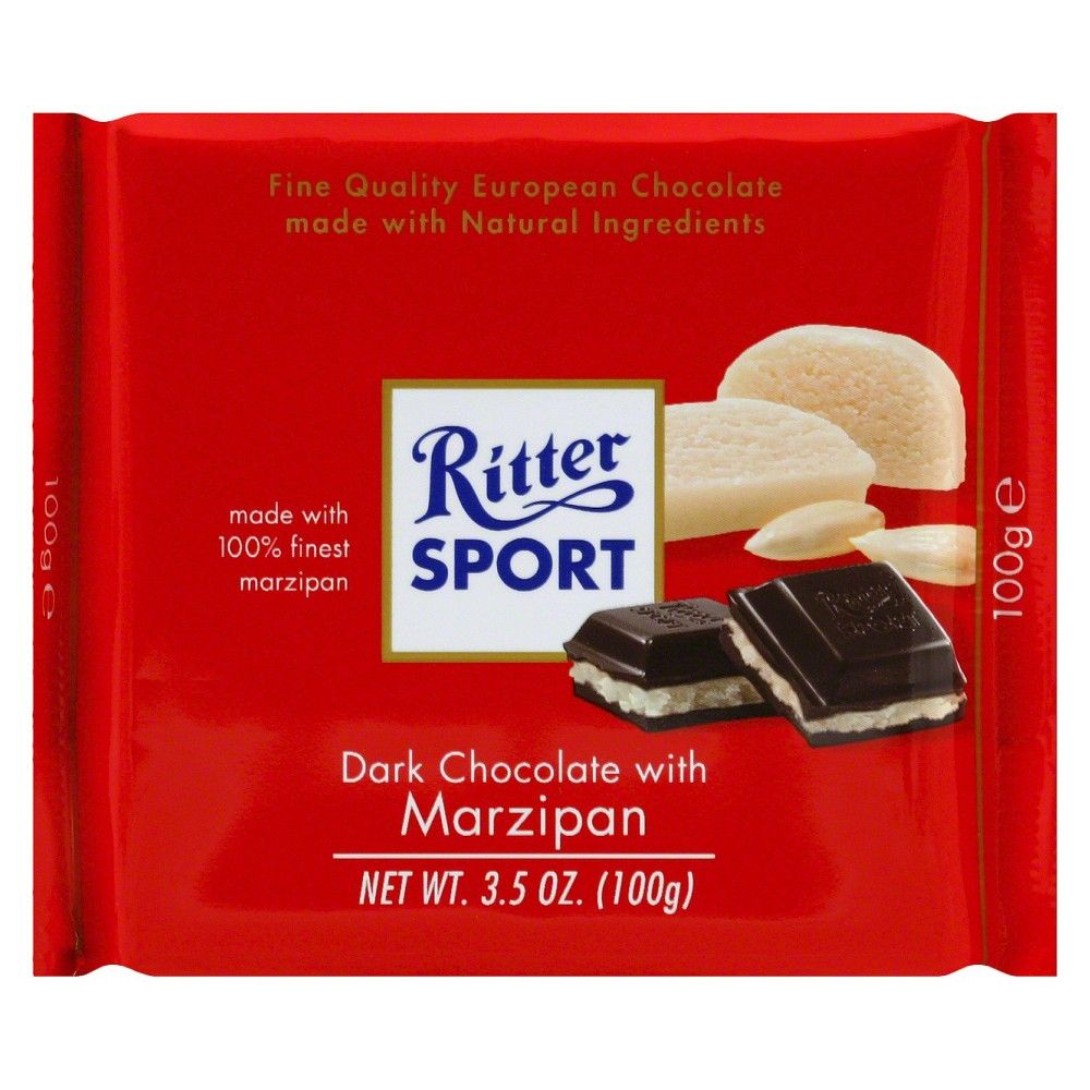Ritter Sport Dark Chocolate with Marzipan Bar 3.5oz