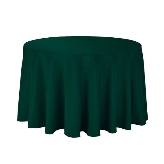 108 inch round polyester tablecloth 108 hunter green tablecloth rh pinterest com