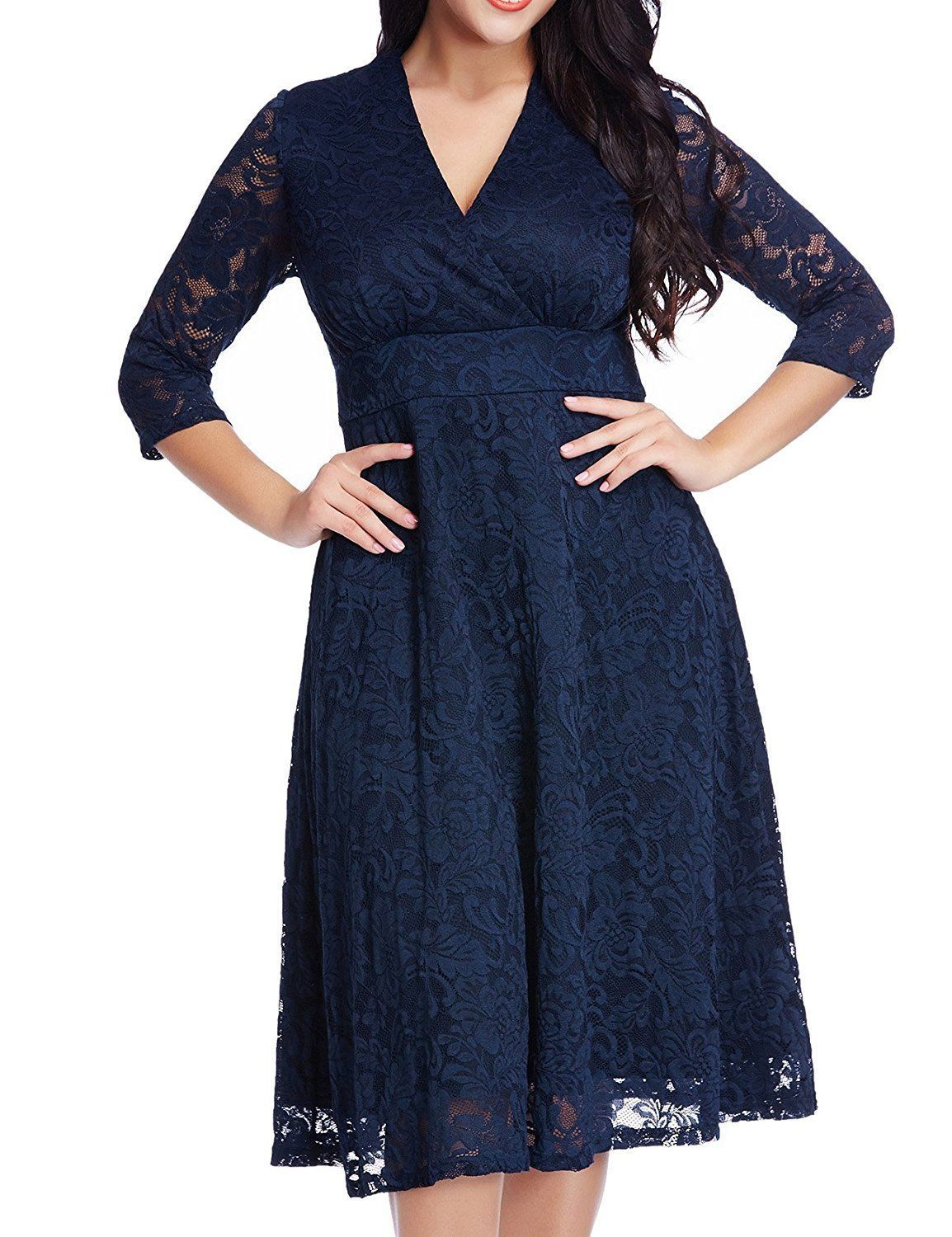 Cool womens lace plus size mother of the bride skater dress bridal
