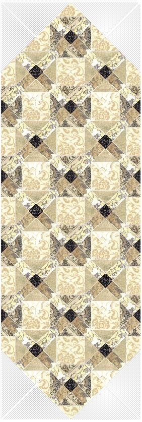 Quilt Pattern Refreshing Morning Table Runner Designed W Moda