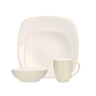 Noritake® Colorwave Square Dinnerware in Cream - BedBathandBeyond.com