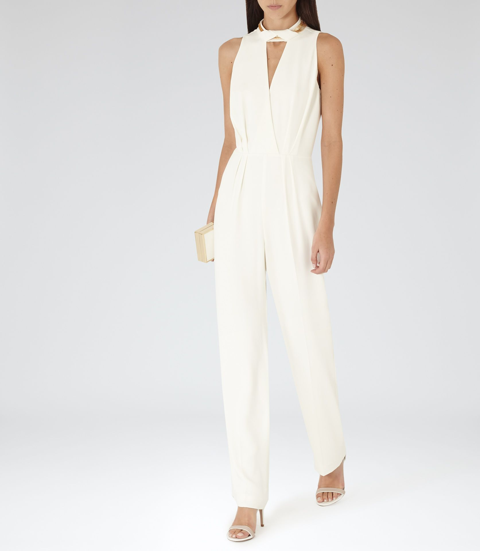 search for authentic select for latest aesthetic appearance Womens Champagne Chain Detail Jumpsuit - Reiss Kenna | My ...