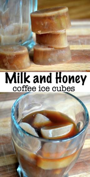 Milk and Honey Coffee Ice Cubes Honey coffee, Coffee
