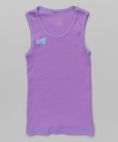 Love this Grape & Turquoise Contrast Boybeater Tank on #zulily! #zulilyfinds