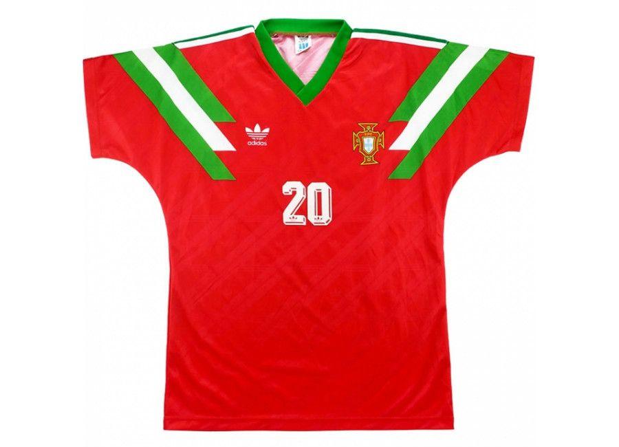 Football Soccer Futbol Matchworn Adidas 1992 Portugal Match Worn Us Cup Home Shirt Soccer Uniforms Design Vintage Football Shirts Football Shirts