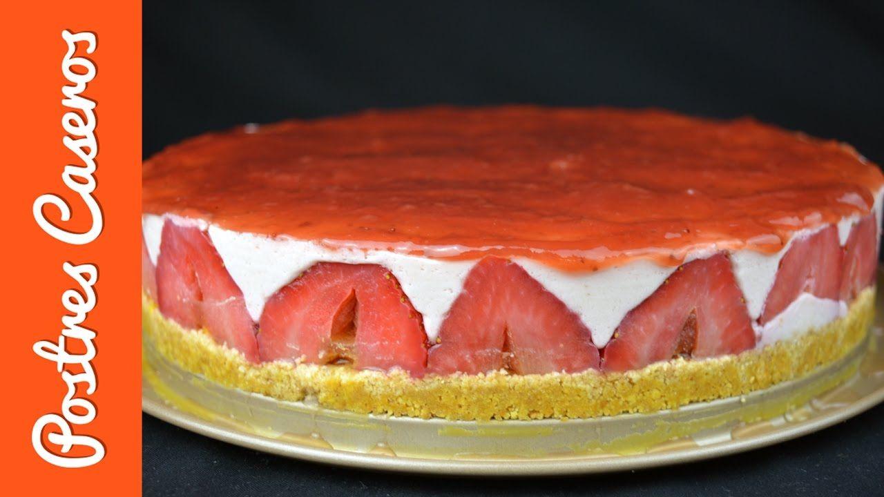 Tarta cuajada de yogur y fresas | Javier Romero