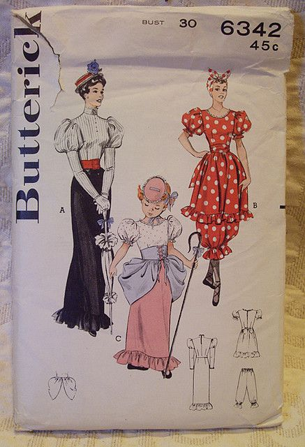 vintage mary poppins costume pattern