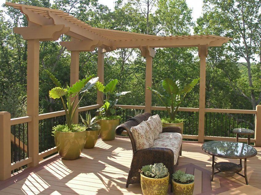 modern l shape pergola on deck pergolaconstruction pergola rh pinterest com