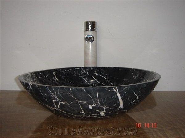 White Vine In Black Marble Sink Wash Basin Nero Marqiuna Black Marble Wash Basin Marble Sinks Basin Wash Basin