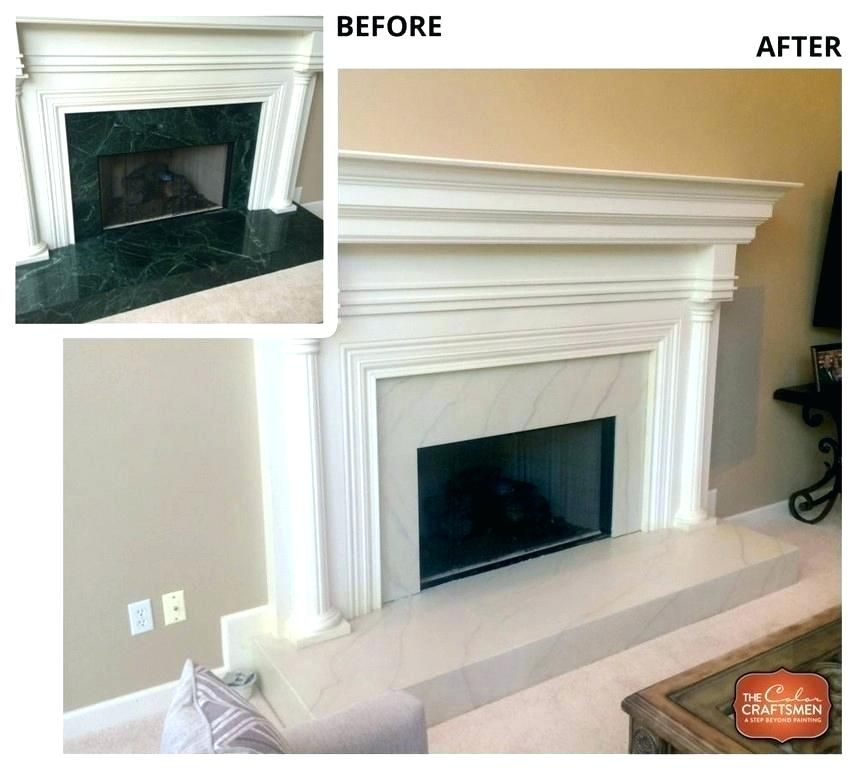 painted stone fireplace before and after rock fireplace makeover rh in pinterest com