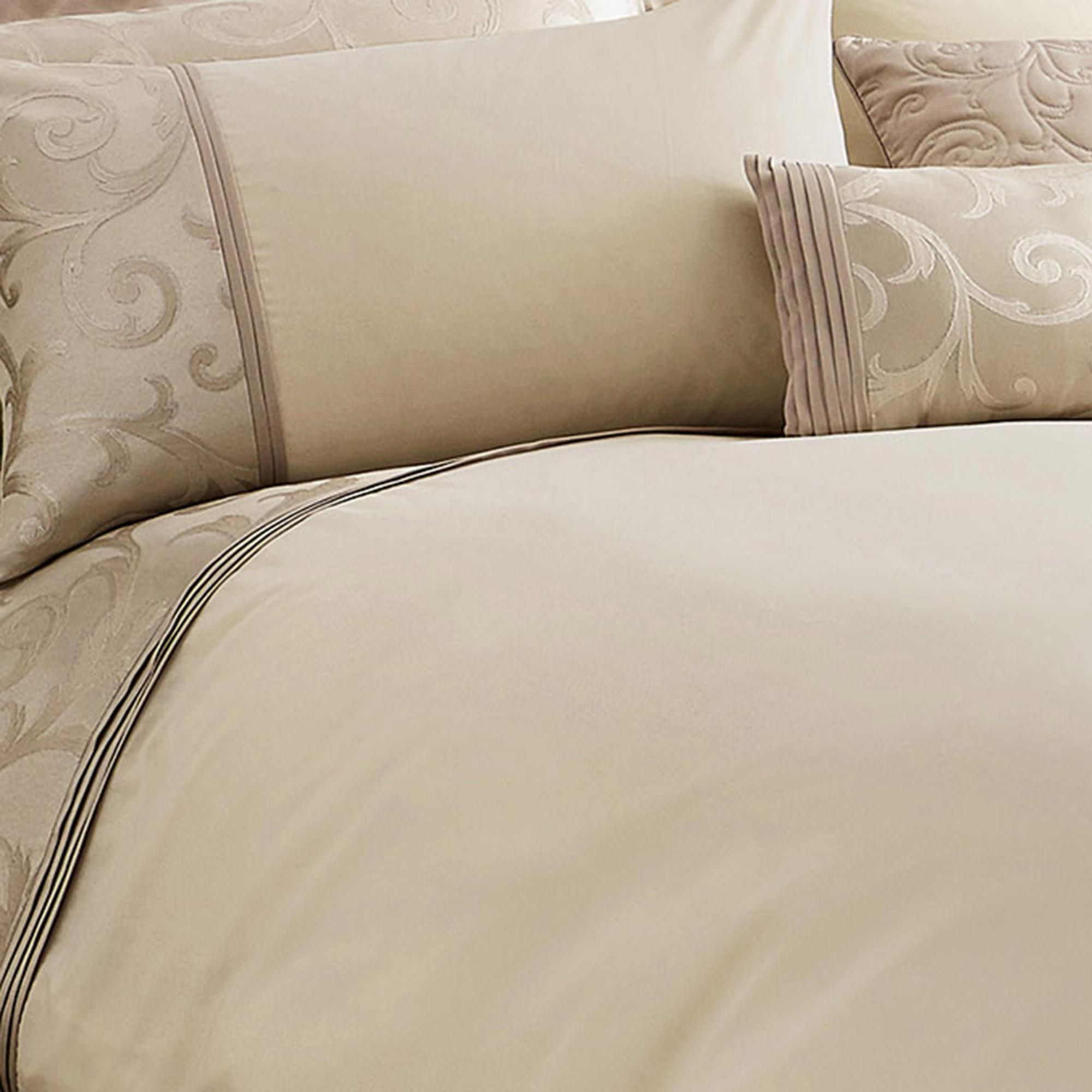 Lucia Embroidered Natural Duvet Cover In 2020 Natural Duvet
