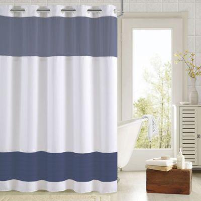 Hookless Aruba Pleats Color Block Shower Curtain Hookless