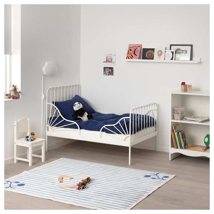 Ext Bed Frame With Slatted Bed Base White 38 1 4x74 3 4 Bed