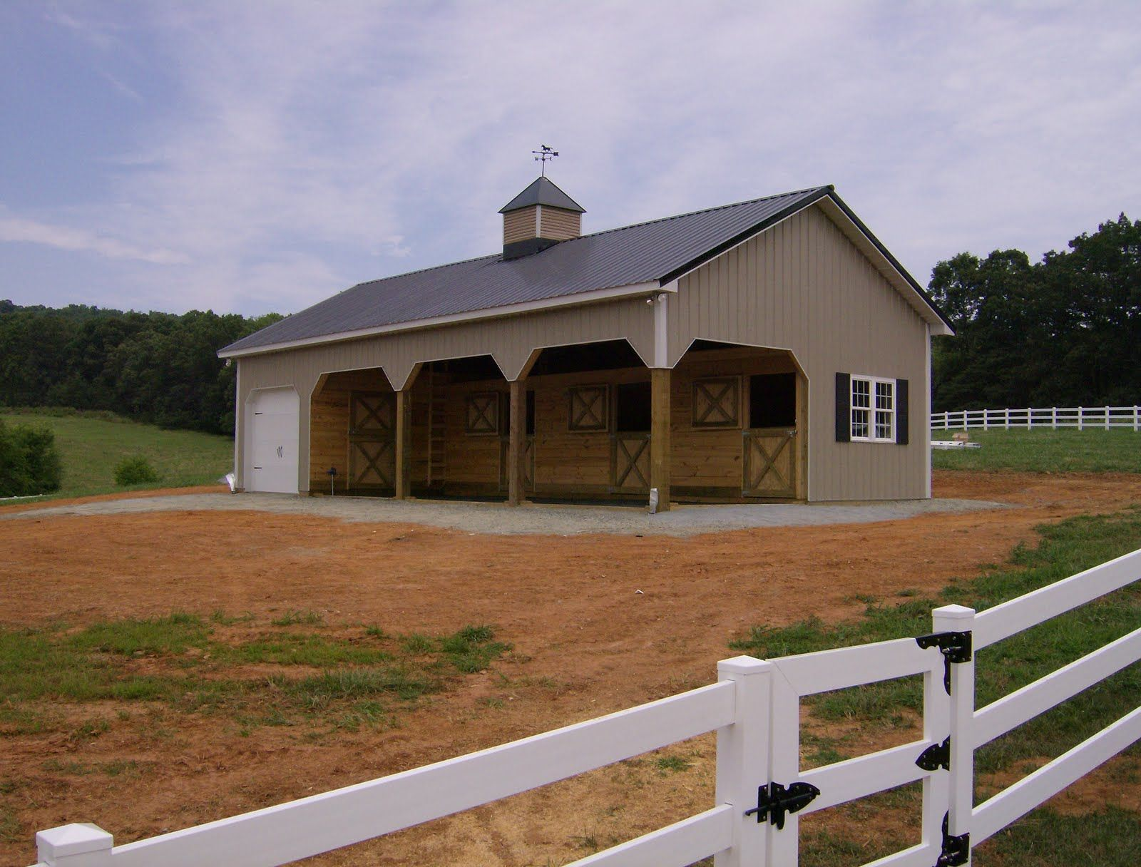 barn barns hillside amish modular story structures two horse