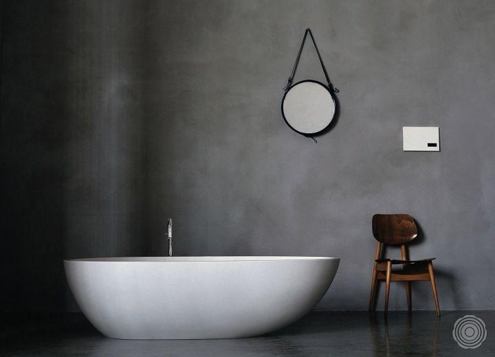 Fugenlose Kunstharzboden Badezimmerboden Badezimmer Design Bad