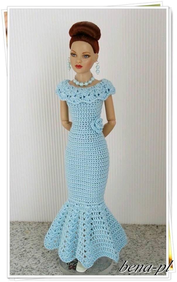 Pin von LaVette Cruz auf Barbie Crochet | Pinterest | Puppenkleider ...