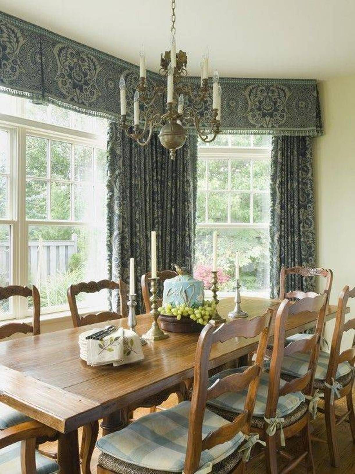 Decorate Your Dining Room Window With Dining Room Valances Dining Room Windows Kitchen Window Treatments Dining Room Drapes