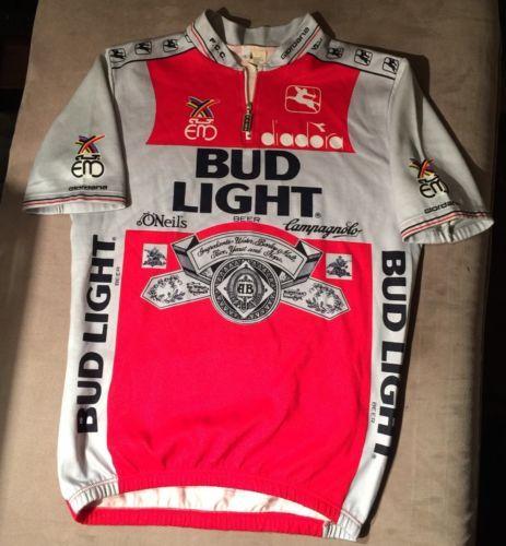 Vintage-Giordana-Bud-Light-Diadora-Cycling-Bike-Jersey-Size-5-Mens-Large dd065b39f