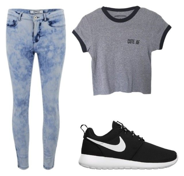 """""""back to school / outfit ideas"""" by monserratols12 on Polyvore featuring moda, ONLY y NIKE"""