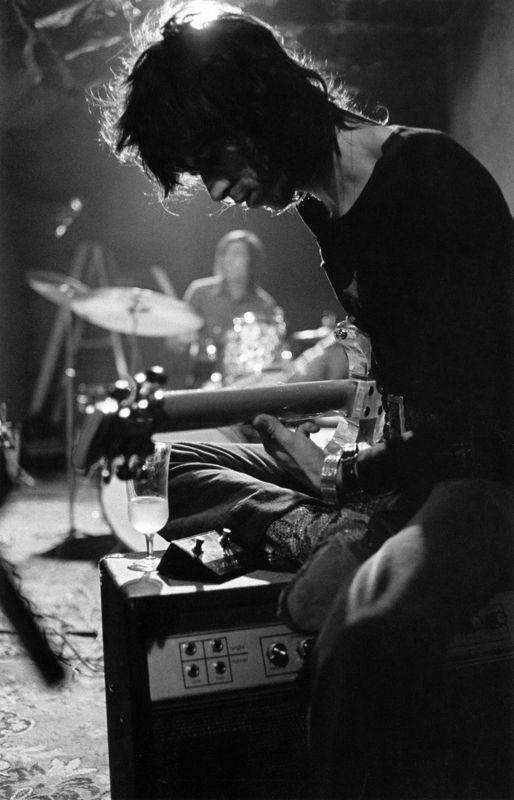 Keith Richards in rehearsal, September 1969. In the basement of Stephen Stills' home