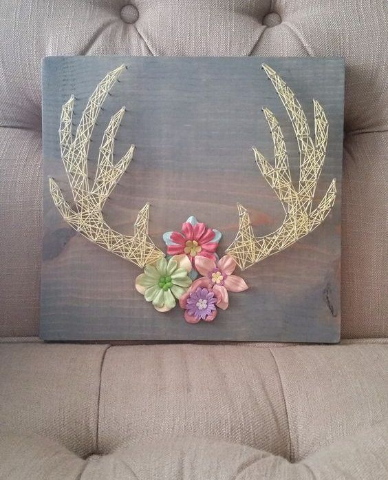 27+ DIY String Art Project Inspiration #stringart