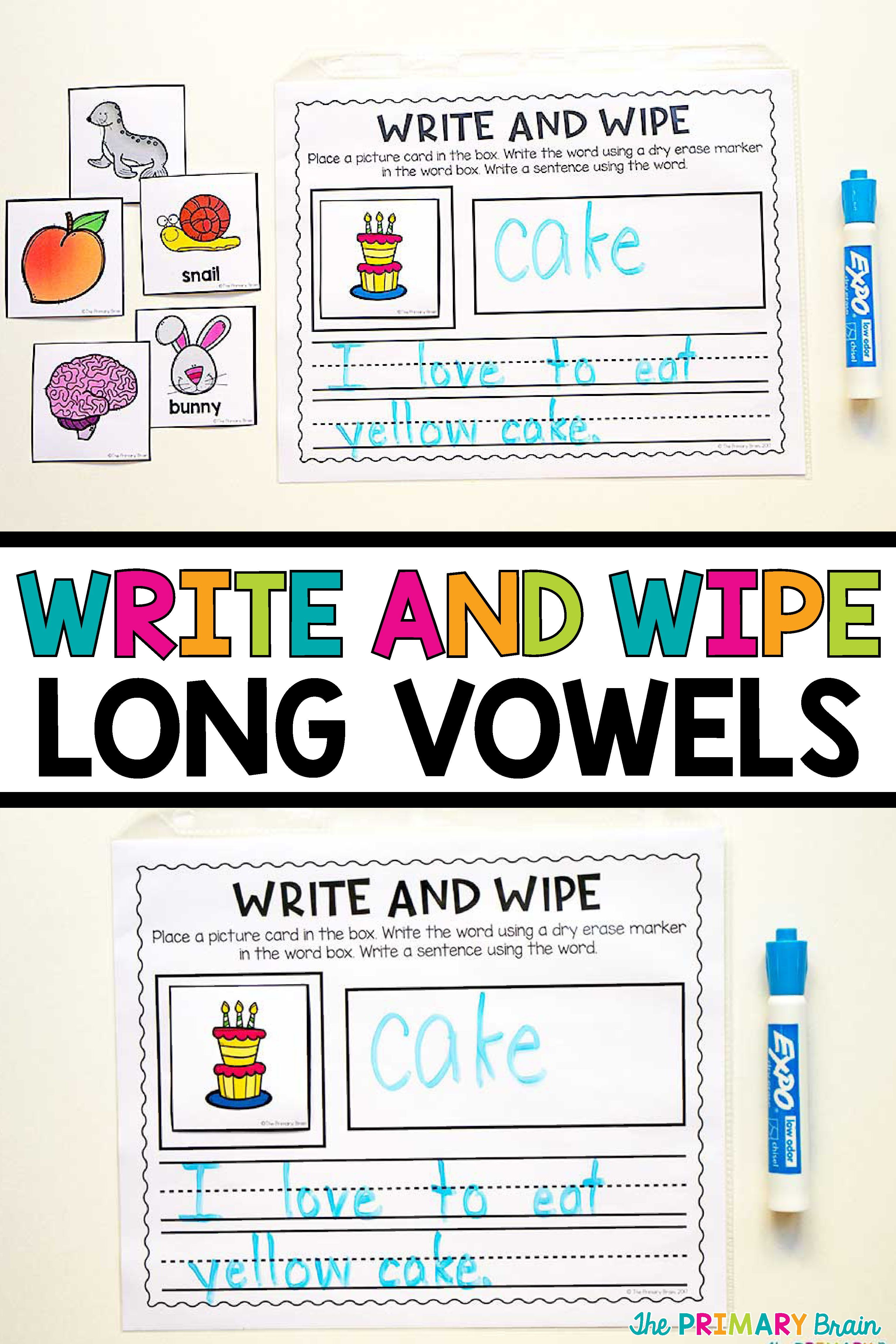 Write And Wipe Long Vowels To Practice Writing Long Vowel