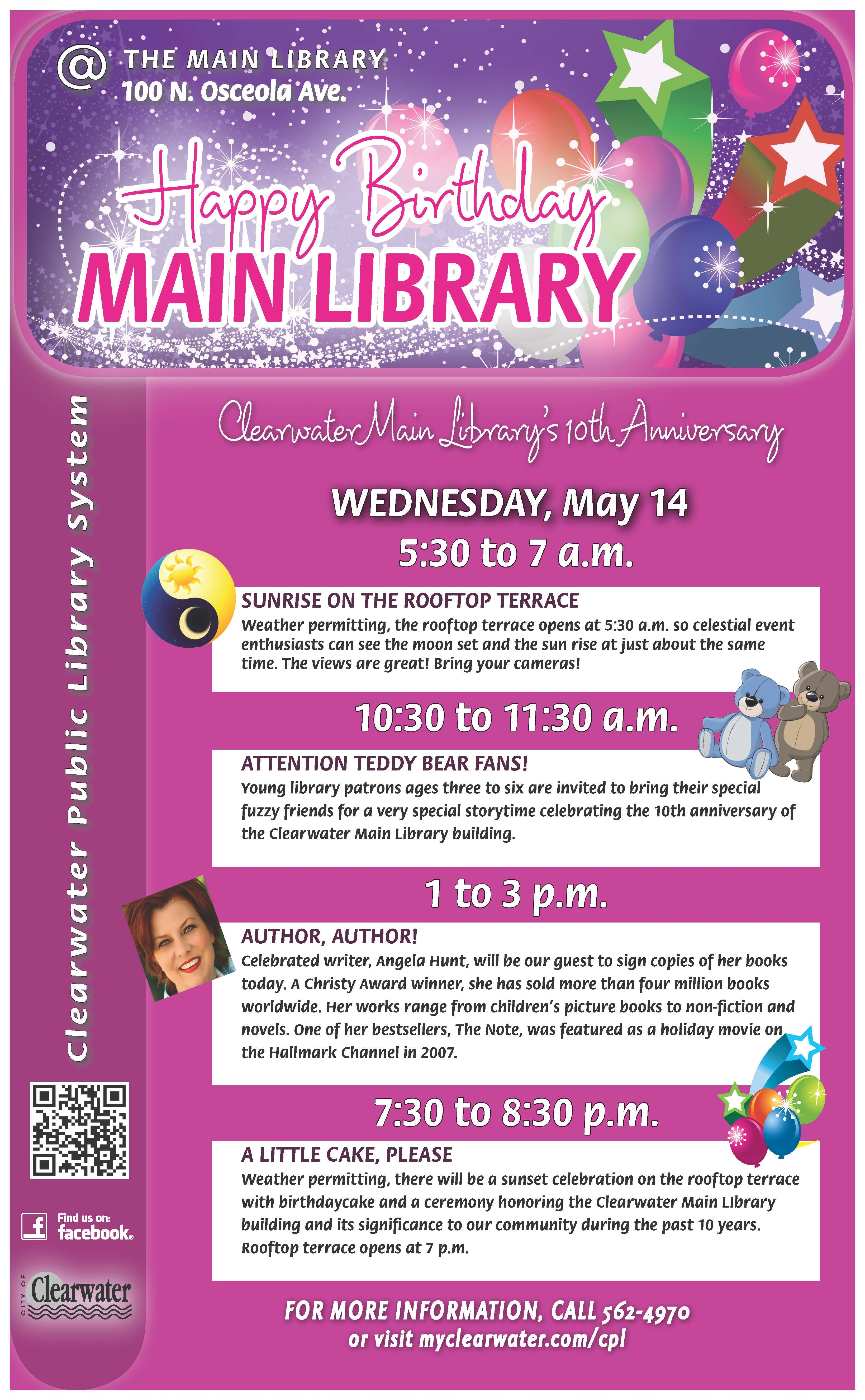 Celebrate clearwater main librarys 10th anniversary