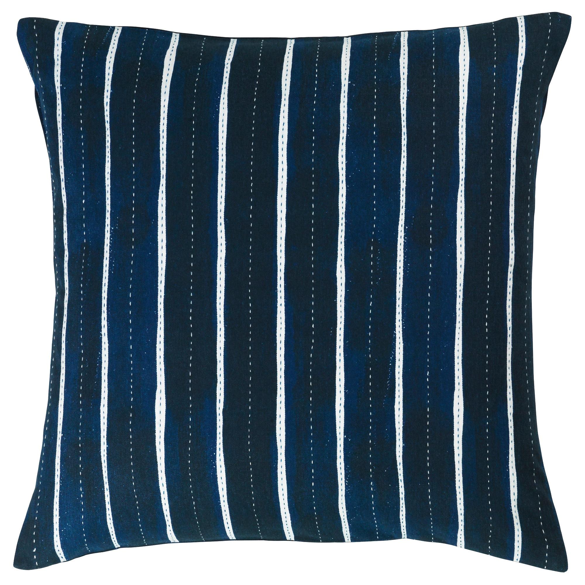 IKEA INNEHÅLLSRIK Kissenbezug,Handarbeit blau Kissenhülle Kissenbezüge 50x50cm