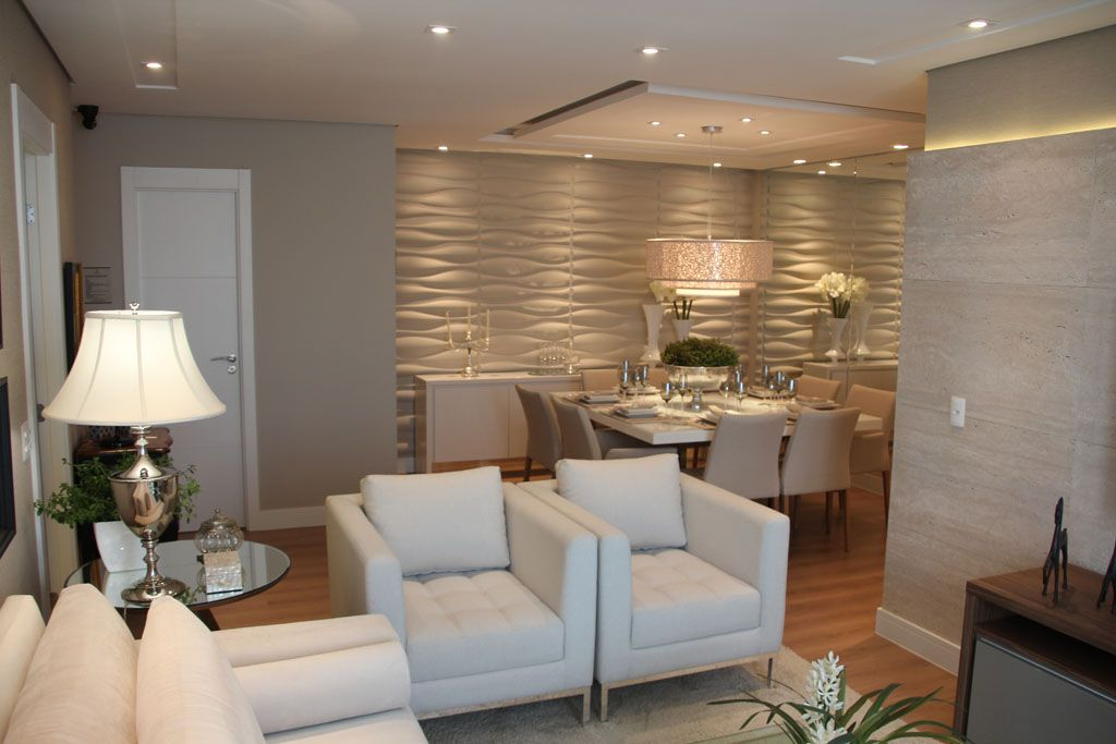 Construindo minha casa clean salas pinterest casa for Sala de estar com um sofa