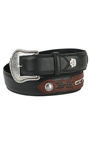Neuf Sendra boots cuir ceinture belt Biker Western Marron
