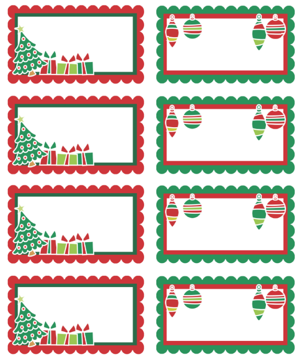 Free Printable Adorable Christmas Holiday Labels Can Use As Gift