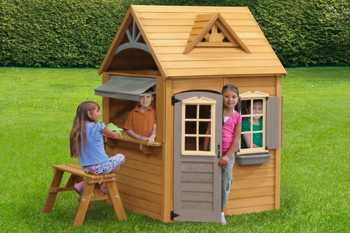 playhouse for kids wooden playhouse kids outdoor playhouse how to rh in pinterest com