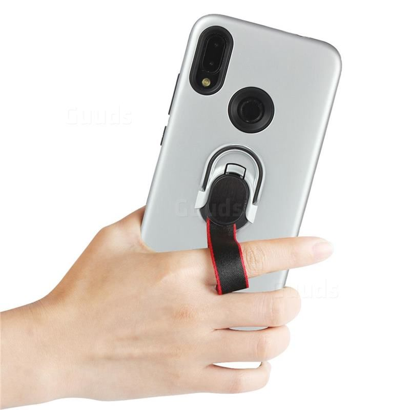 Raytheon Multi Function Ribbon Stand Back Cover For Xiaomi Mi Redmi Note 7 Note 7 Pro Silver Xiaomi Redmi Note 7 Note 7 Pro Cases Guuds Magnetic Car Holder Xiaomi Note 7