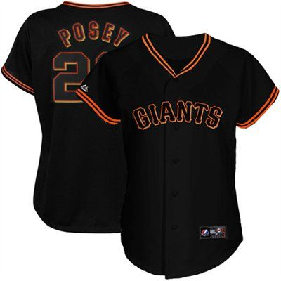 Majestic Buster Posey San Francisco Giants Women S Replica Jersey Black San Francisco Giants Outfit Sf Giants Outfit San Francisco Giants Jersey