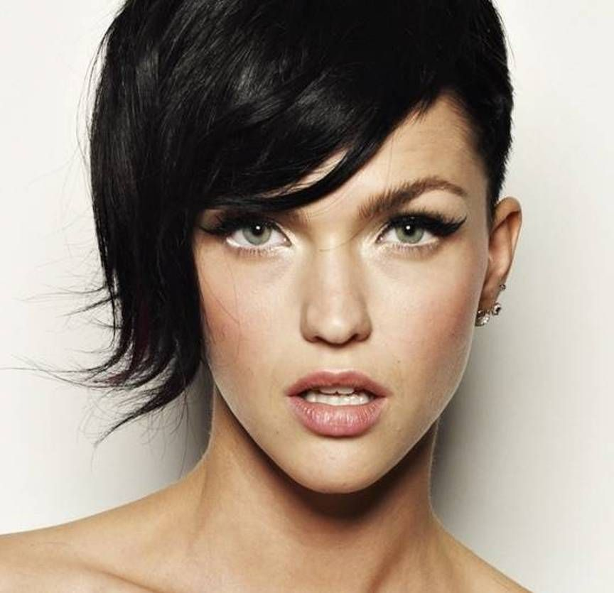stunning side shaved short pretty hairstyles for parties