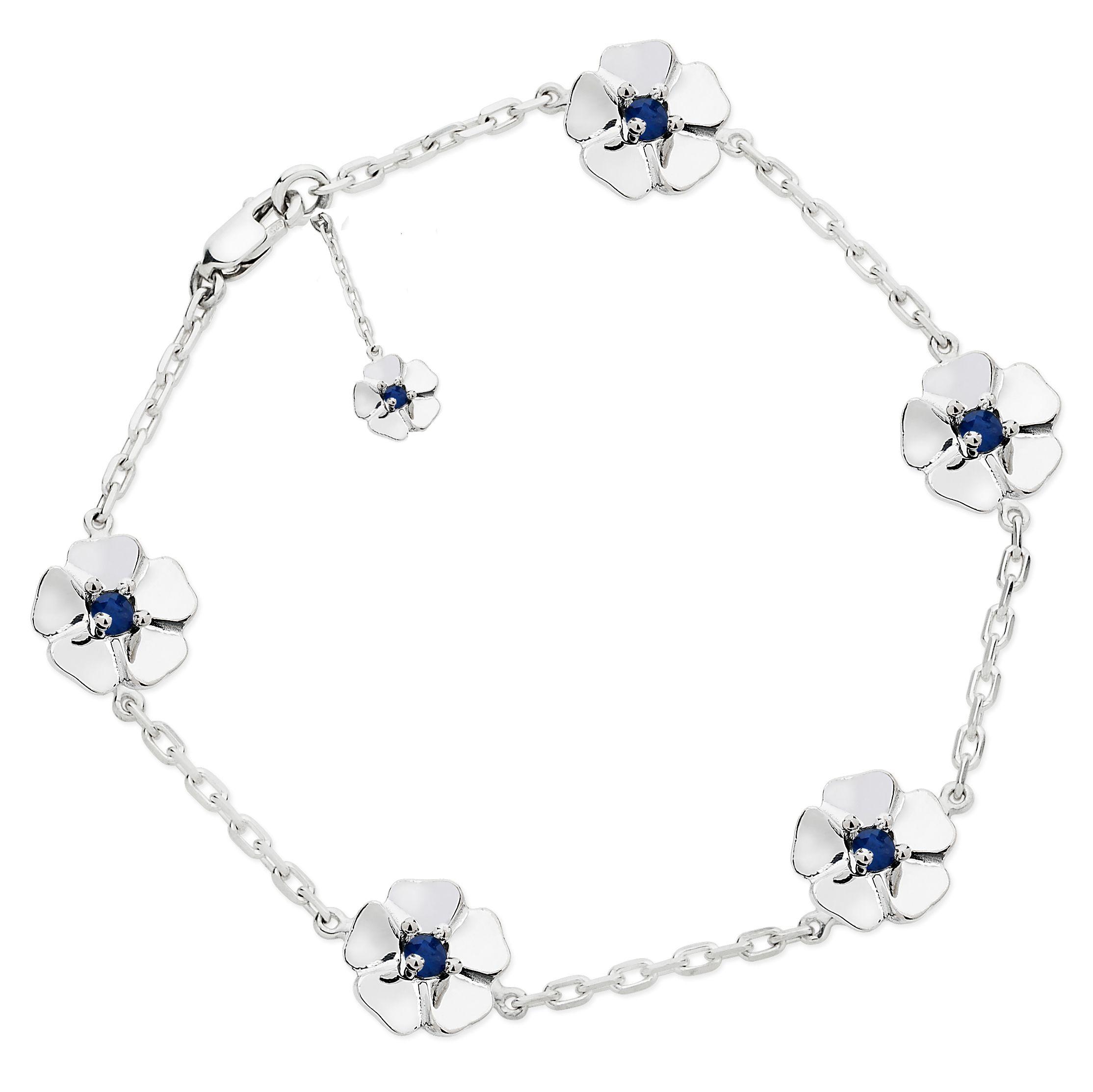 Silver sapphire bracelet sapphire bracelets and jewel
