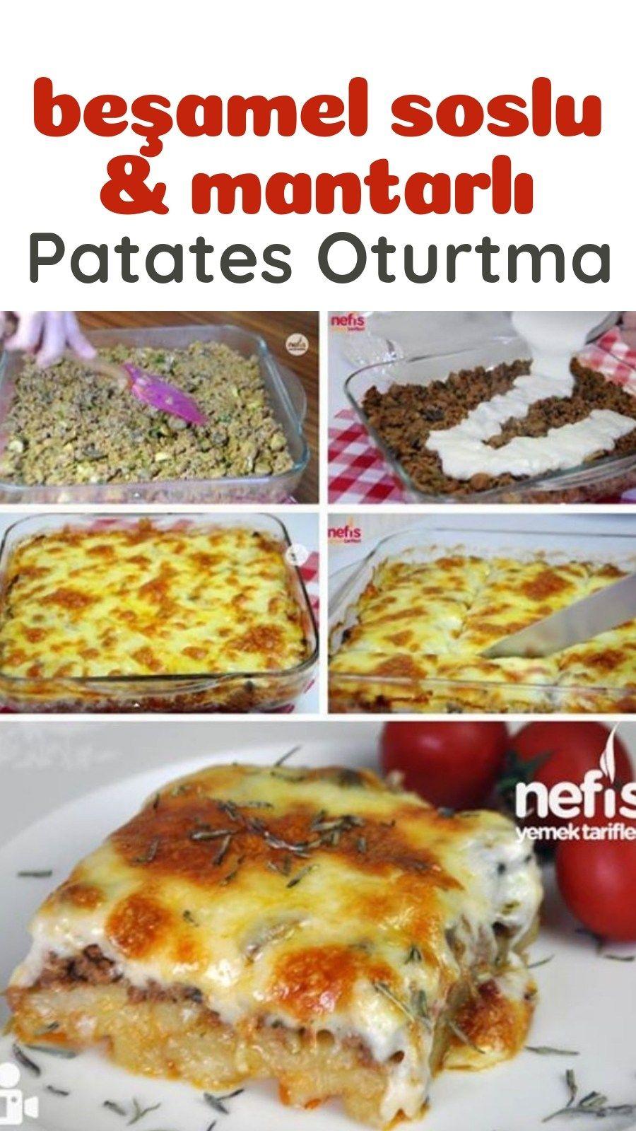 Beşamel Soslu Mantarlı Patatesli Oturtma - Nefis Yemek Tarifleri