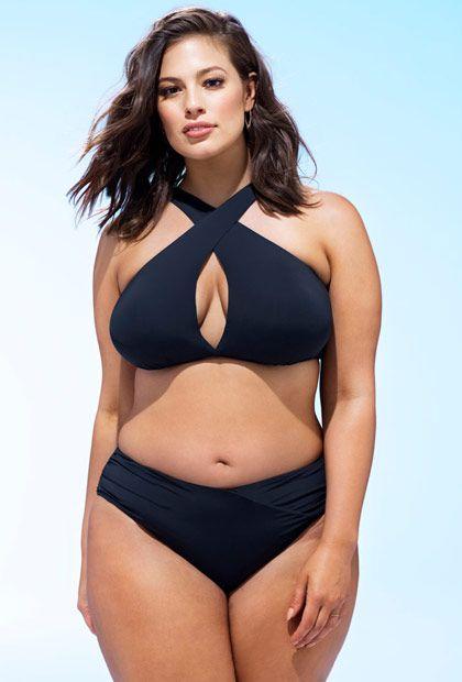 5ce1fad002060 Ashley Graham x Swimsuits For All Black Bikini