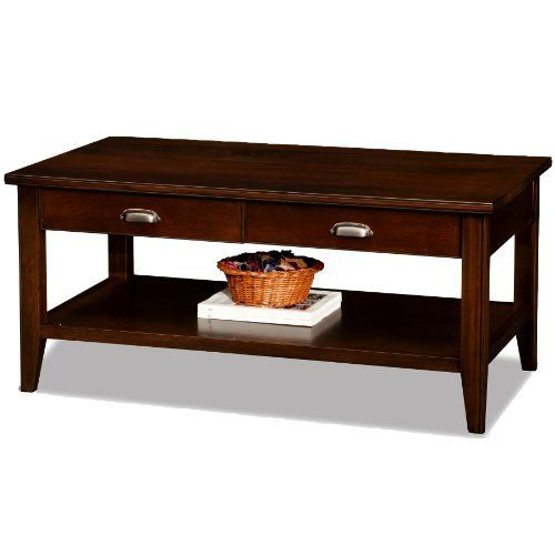 the leick laurent two drawer solid wood coffee table offers heavily rh pinterest com