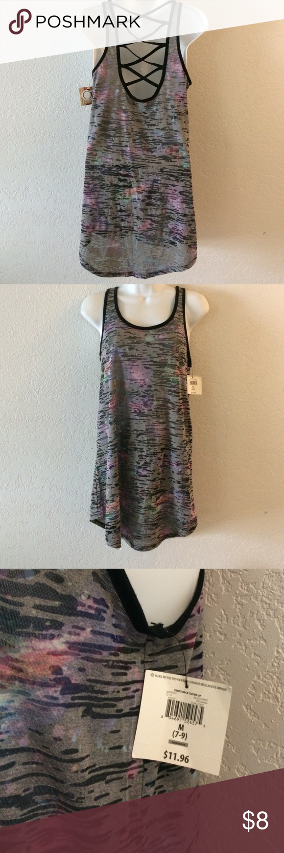 BNWTS OP TANK TOP Brand-new with tags size medium see-through cross strap tank top . wrapped and shipped with care ocean pacific Tops Tank Tops