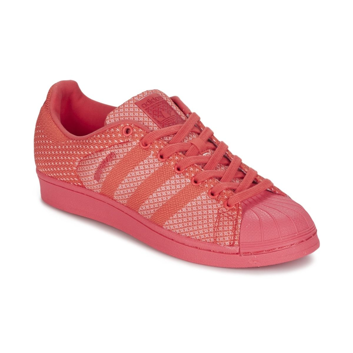 b85cec445ea Baskets basses Adidas Originals SUPERSTAR WEAVE Corail prix promo Baskets Femme  Spartoo 94.99 €