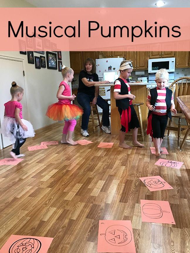 Musical Pumpkins - Grandma Ideas #halloweenpartygamesforkids