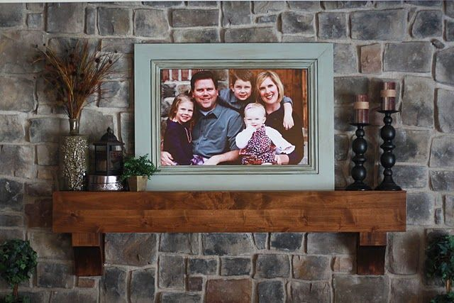 Mantle Fabulous Way To Get A Big Family Picture Up In Your Home