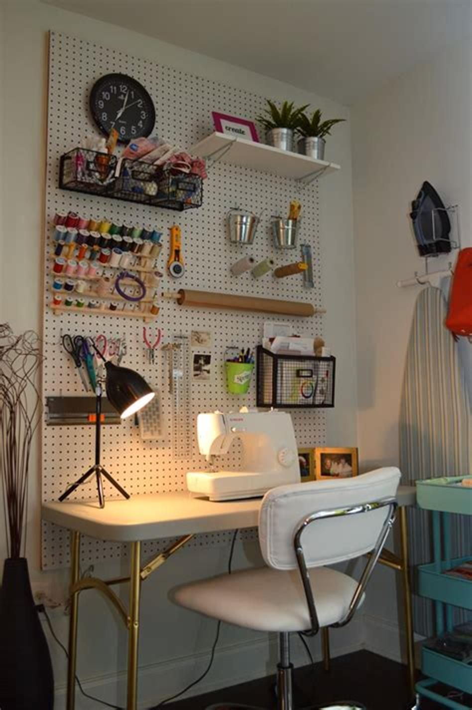 Designing A Sewing Room: 50+ Most Popular Small Craft And Sewing Room Design Ideas