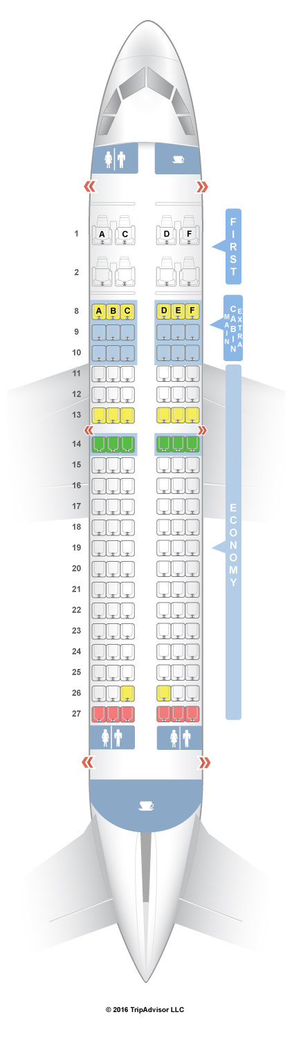 SeatGuru Seat Map American Airlines Airbus A319 (319) V1 TRAVEL